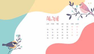 abril fondo pantalla calendario